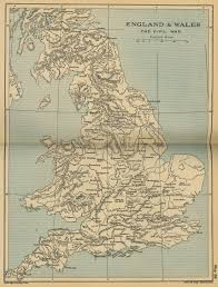 Map Of England by Of England And Wales The Civil War 1642 1651