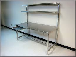 Kitchen Work Table by Stainless Steel Tech Bench With Double Upper Shelves Sleeping