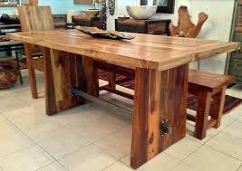 reclaimed teak dining room table reclaimed teak dining table with custom steel trestle 3 foot wide x