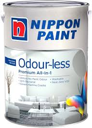 nippon paint odourless all in one 1l 1380 colours interior