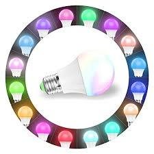 alexa light bulbs no hub magiclight wifi smart light bulb dimmable multicolor wake up