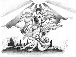 angel vs demon tattoo by leedeeyah on deviantart