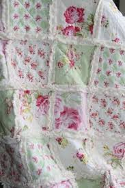 shabby chic quilt rag quilt homeade quilt cottage quilt winter