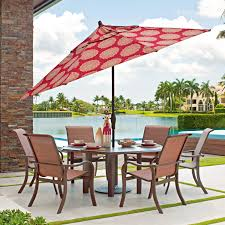 Outdoor Patio Dining Sets With Umbrella - telescope casual ocala 6 person sling patio dining set with