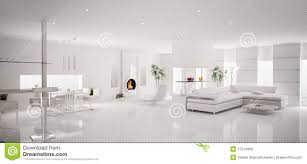 interior of white apartment panorama 3d illustration 17514966