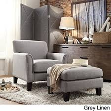Accent Chair With Ottoman Tribecca Home Uptown Modern Accent Chair And Ottoman