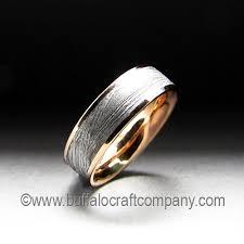 meteorite mens wedding band custom wedding band gallery buffalo craft company llc