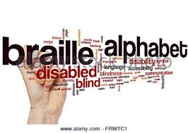 Alphabet Blind Braille Alphabet Word Cloud Concept With Blind Touch Related Tags