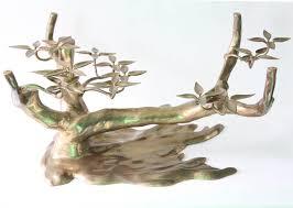 sculptural brass u0027bonsai tree u0027 coffee table base nyshowplace