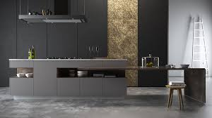Home Design Gold by 36 Stunning Black Kitchens That Tempt You To Go Dark For Your Next