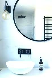 Bathroom Mirror Chrome Black Bathroom Mirror Akapello