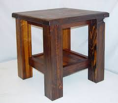 Rustic End Tables Rustic Lodge Log And Timber Furniture Handcrafted From Green