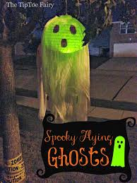 Halloween Porch Light Covers Diy Halloween Spooky Flying Ghosts The Tiptoe Fairy
