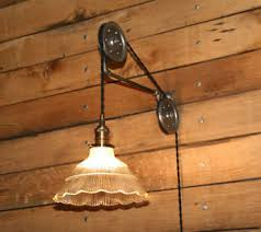 large pulley wall mount for your pendant light industrial pulley