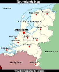 where is amsterdam on a map where is amsterdam location of amsterdam on the map