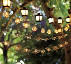 string lights outdoor malta mini lantern string lights pottery barn