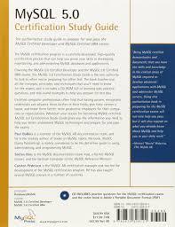 amazon fr mysql 5 0 certification study guide paul dubois