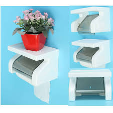 waterproof toilet paper holder tissue container bathroom rack at