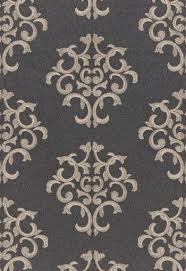 Wool Drapery Fabric 66830 Byron Embroidered Wool Charcoal By Fschumacher Fabric