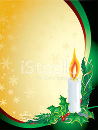 christmas candle holly green gold vertical background stock