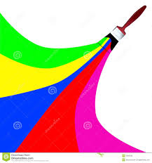 rainbow paint brush vector royalty free stock photos image 3950238