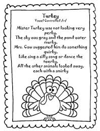 sound loaded thanksgiving rhymes poems silly speech therapy