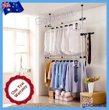 heavy duty garment rack diy clothes hanger wardrobe space saver
