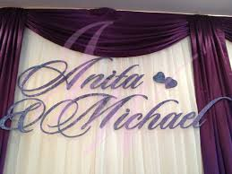 joyce wedding service backdrop name
