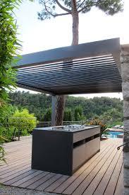 cuisine d été design pergolas bioclimatique cuisine d été méditerranéen terrasse