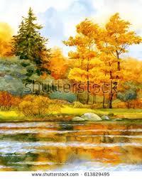 colorful vibrant hand drawn watercolour sketch stock illustration