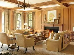 golden finish of carving frame style western living room brown