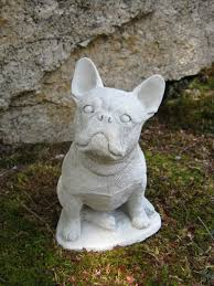 bulldog statue concrete statue frenchie cement