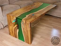 waterfall coffee table wood live edge green waterfall river coffee table with transparent leg