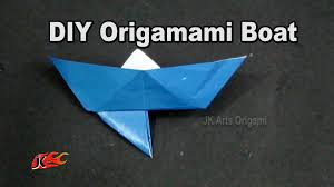 how to make a paper boat with an anchor learn origami jk