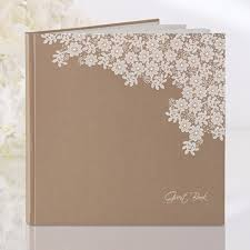 large wedding guest book rustic floral wedding guest book