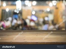 drink table bar empty wooden table present product on stock photo 681669730