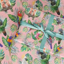 tropical wrapping paper wrapping paper tropical birds la la land