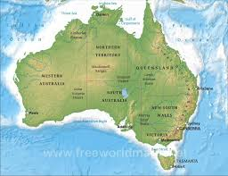map of austrailia geographical map australia major tourist attractions maps