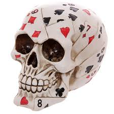 gruesome skull of cards ornament looking for something a bit