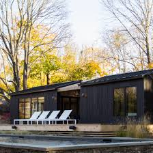 charred wood boards clad new york pool house by general assembly