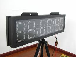 large outdoor led countdown clock outdoor in