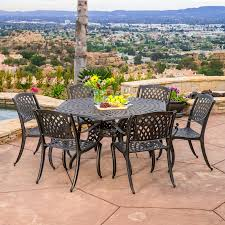 hexagon patio table and chairs outdoor best selling home decor furniture spencer aluminum 7 piece
