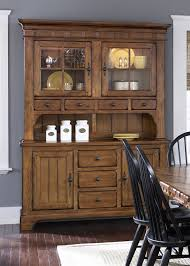 treasures buffet u0026 hutch in rustic oak finish by liberty furniture