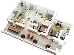 bed 7 3d three bedroom house plans 533535887078956362 3d small