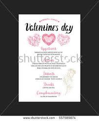 menu template valentine day dinner flyer stock vector 557589874