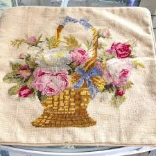Shabby Chic Pillow Covers by Shop French Needlepoint Pillows On Wanelo