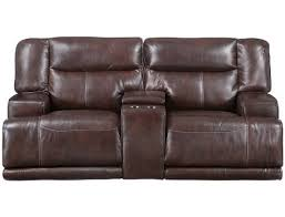 slumberland tompkins collection brown power reclining loveseat