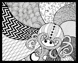 zentangle squid by kayleigh doodle art pinterest zentangle