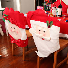 santa chair covers newest 2pcs christmas thick mr and mrs santa claus christmas