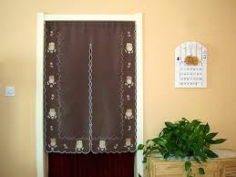 finished embroidered owl half curtain window light shading curtain